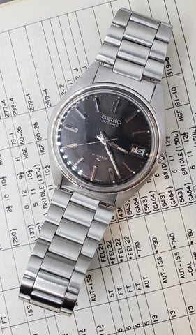Seiko Automatic Grey Dial Stainless Steel Men's Watch Crica 1970s