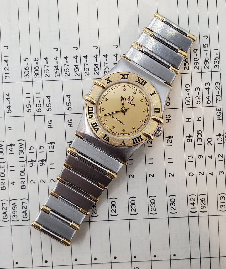 Omega Constellation 18K Quartz Women's Watch Circa 1980s