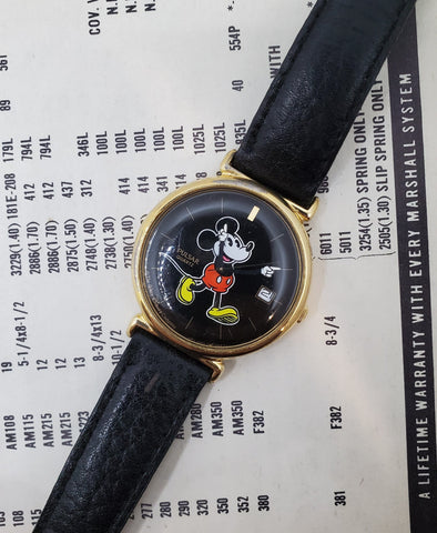 Pulsar Mikey Mouse Disney Black Dial Men's Watch Circa 1980s