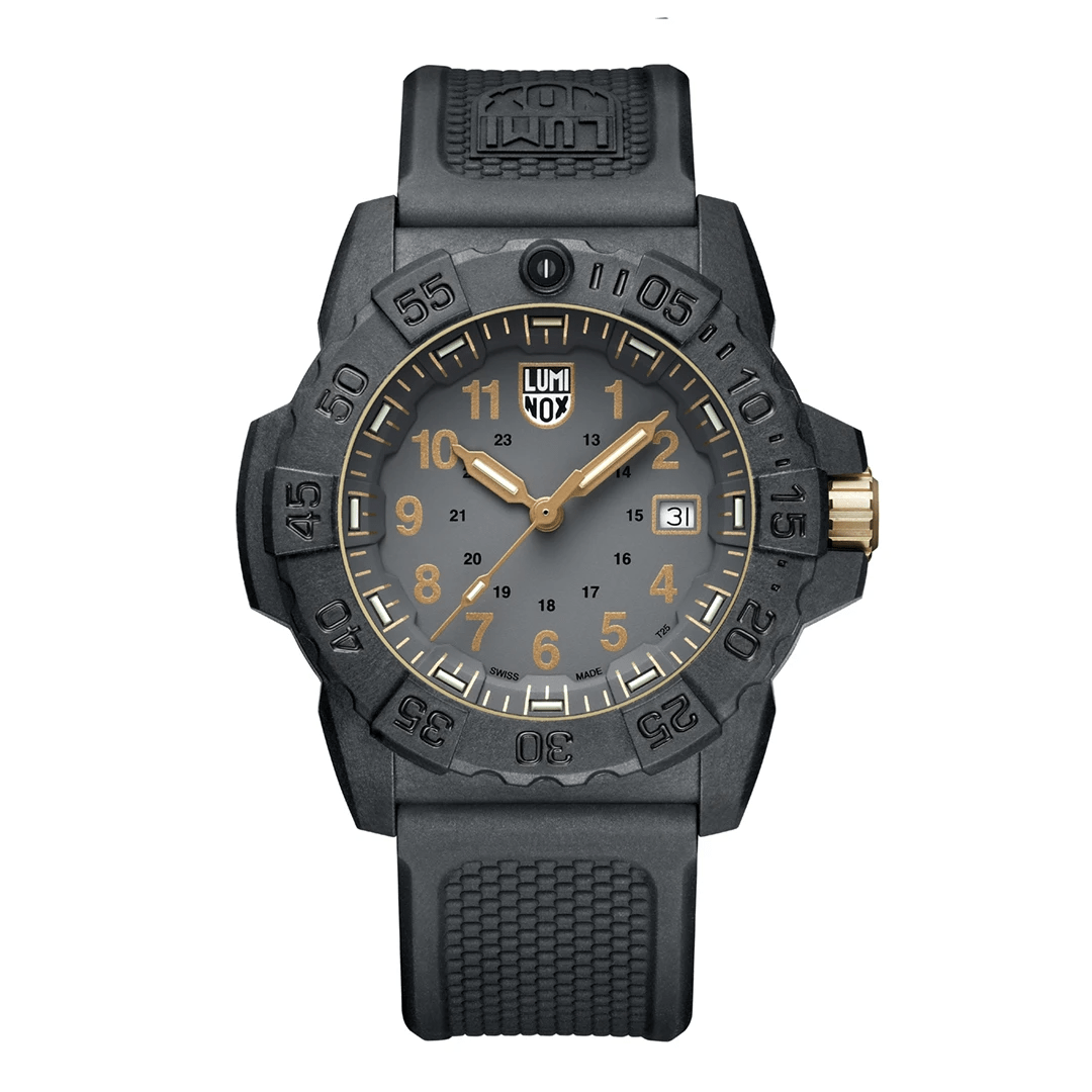 Luminox Navy SEAL Gold Accents Black Strap Men's Watch XS.3508.GOLD