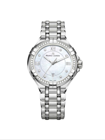 Maurice Lacroix AIKON Date 30mm White Dial Women's Watch AI1004-SD502-170-1
