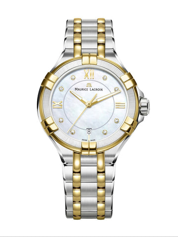 Maurice Lacroix AIKON Date 35mm Two-Tone Women's Watch AI1006-PVY13-171-1