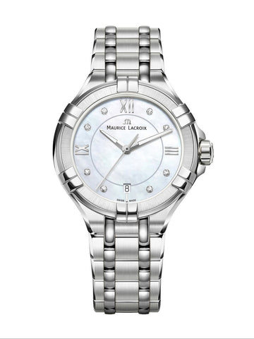 Maurice Lacroix AIKON Date 35mm White Dial Women's Watch AI1006-SS002-170-1