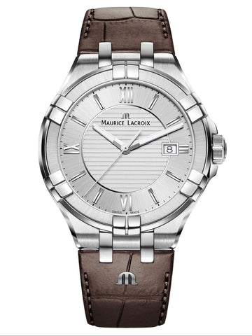 Maurice Lacroix AIKON Date 42mm Brown Strap Men's Watch AI1008-SS001-130-1