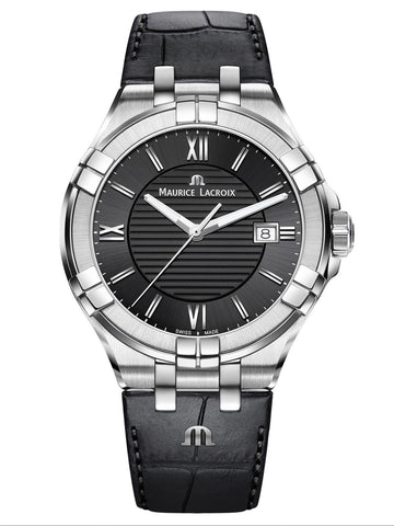 Maurice Lacroix AIKON Date 42mm Black Strap Men's Watch AI1008-SS001-330-1