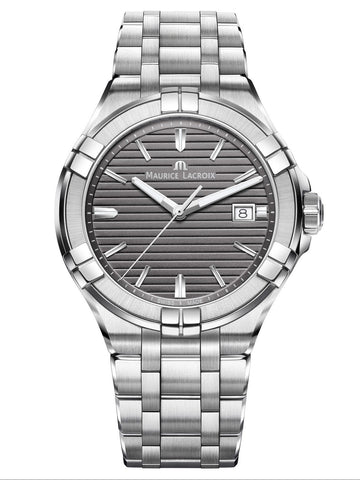 Maurice Lacroix AIKON Date 42mm Stainless Steel Anthracite Dial Men's Watch AI1008-SS002-332-1