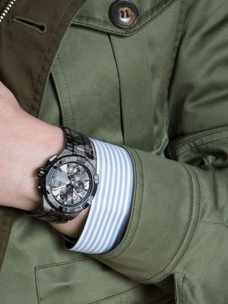 Maurice Lacroix AIKON Chronograph Chamouflage 44mm Stainless Steel Men's  Watch