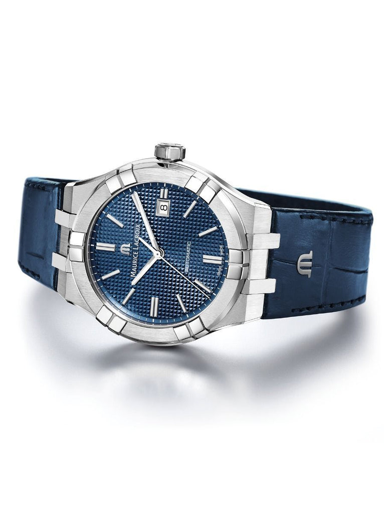 Maurice Lacroix AIKON Automatic 42mm Blue Strap Men's Watch AI6008-SS001-430-1