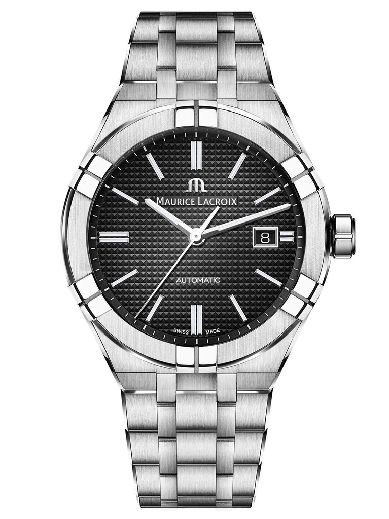 Maurice Lacroix AIKON Automatic 42mm Silver Strap Men's Watch AI6008-SS002-330-1