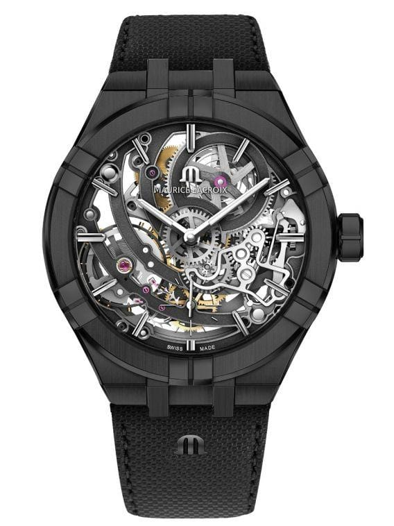 Maurice Lacroix AIKON Automatic Skeleton 45mm Black PVD Men's Watch AI6028-PVB01-030-1