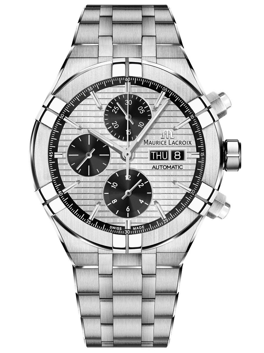Maurice Lacroix AIKON 44mm Automatic Chronograph Steel Men's Watch AI6038-SS002-132-1