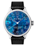 Ernst Benz Anthony Liggins Blue Abstract Limited Edition 47mm Men's Watch GC10200/AL1