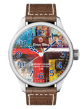 Ernst Benz Anthony Liggins Brown Abstract Limited Edition 47mm Men's Watch GC10200/AL2