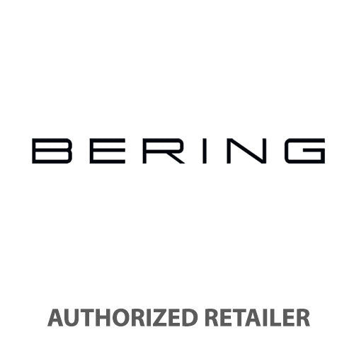 BERING 14640-077 Men's Solar Watch Grey Stainless Steel Mesh Band Grey Dial