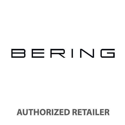 BERING Max Rene 40mm Polished Silver Case Grey Rubber Strap Men's Watch 15540-400