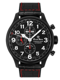 Ernst Benz Chronolunar Officer DLC 47mm Black Dial Men's Watch GC10381-DLC