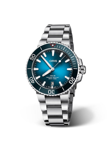 Oris Aquis Clean Ocean Limited Edition Stainless Steel Men's Watch 01 733 7732 4185-Set