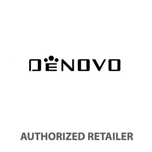 DeNovo DN2020-24NRN Men's Swiss Made Chrono Watch Black Rubber Strap Black Dial