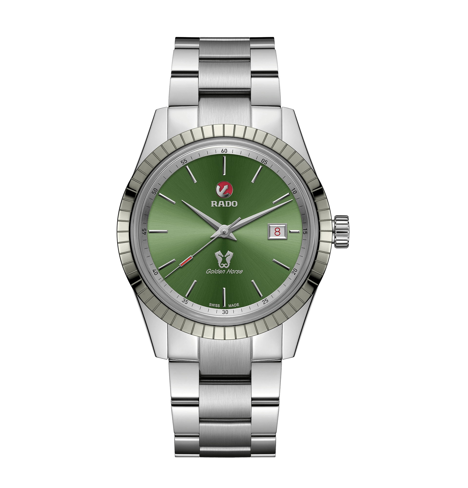 RADO HyperChrome Classic Automatic Green Dial Stainless Steel 42 mm Men's Watch R33101314