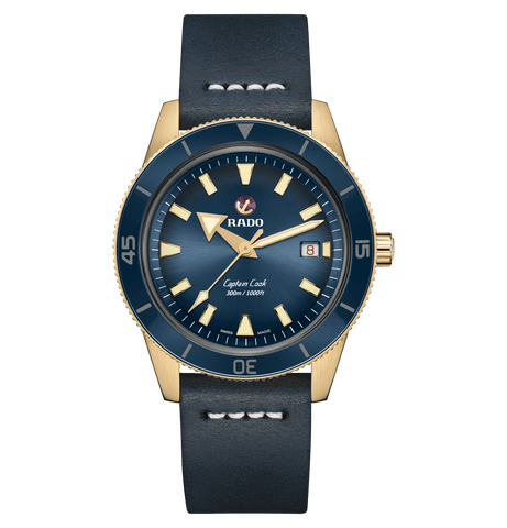 RADO Captain Cook Automatic Bronze 42mm Blue Dial Men's Watch R32504205