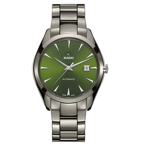 Rado HyperChrome Automatic Green Dial Ceramic Men's Watch R32254312