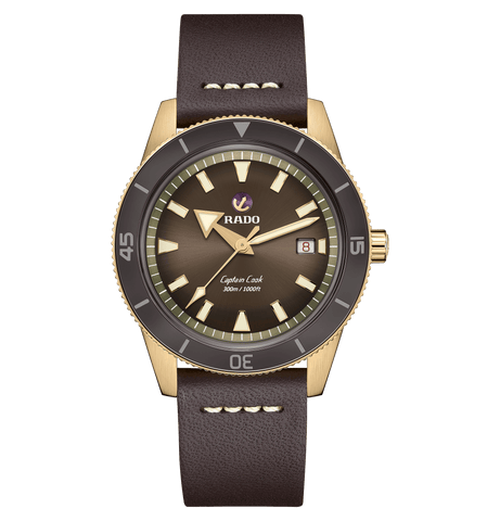 RADO Captain Cook Automatic Bronze 42mm Brown Dial Men's Watch R32504306