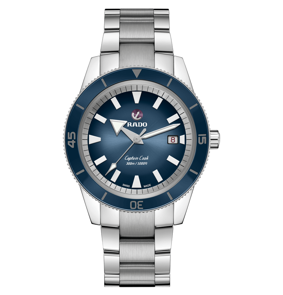 RADO Captain Cook Automatic 42mm Blue Dial Stainless Steel Men's Watch R32105203