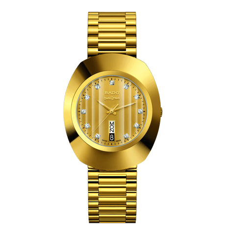 RADO The Original Quartz Gold Dial Gold PVD Stainless Steel Men's Watch R12304303