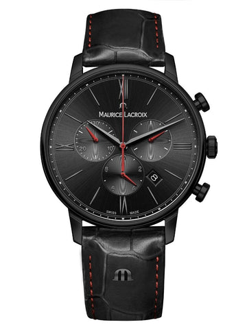 Maurice Lacroix ELIROS Chronograph 40mm Black Strap Men's Watch EL1098-PVB01-310-1