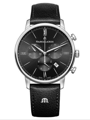 Maurice Lacroix ELIROS Chronograph 40mm Black Strap Men's Watch EL1098-SS001-310-1