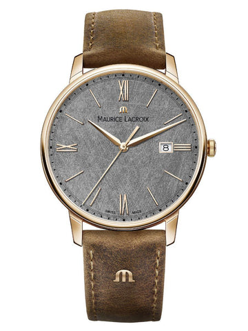 Maurice Lacroix ELIROS Chronograph 40mm Brown Strap Men's Watch EL1118-PVP01-210-1