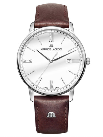 Maurice Lacroix ELIROS Date 40mm Brown Strap Men's Watch EL1118-SS001-113-1