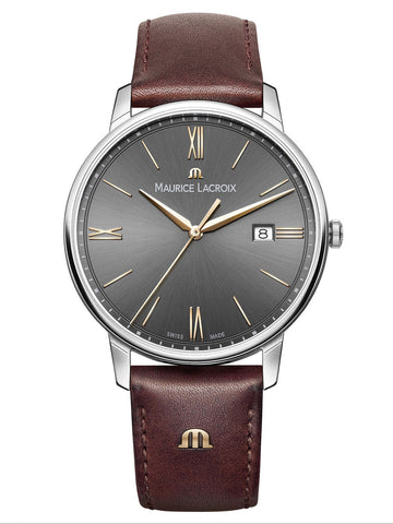 Maurice Lacroix ELIROS Date 40mm Brown Strap Men's Watch EL1118-SS001-311-1
