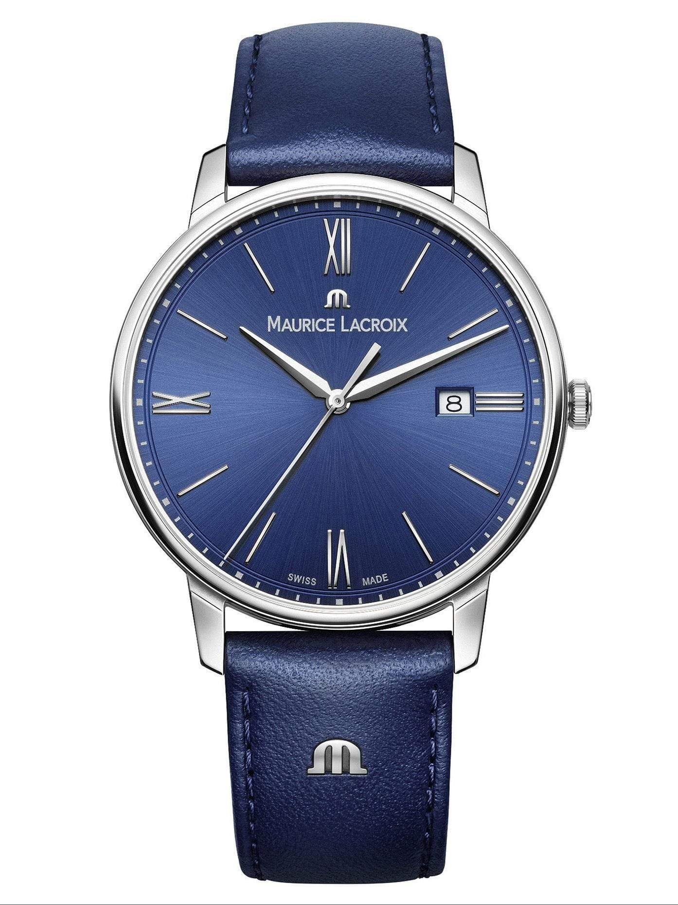 Maurice Lacroix ELIROS Date 40mm Blue Strap Women's Watch EL1118-SS001-410-1