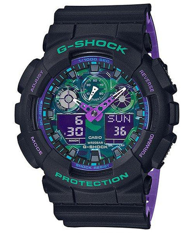 G-Shock Analog-Digital Stopwatch Camo Dial Men's Watch GA100BL-1A