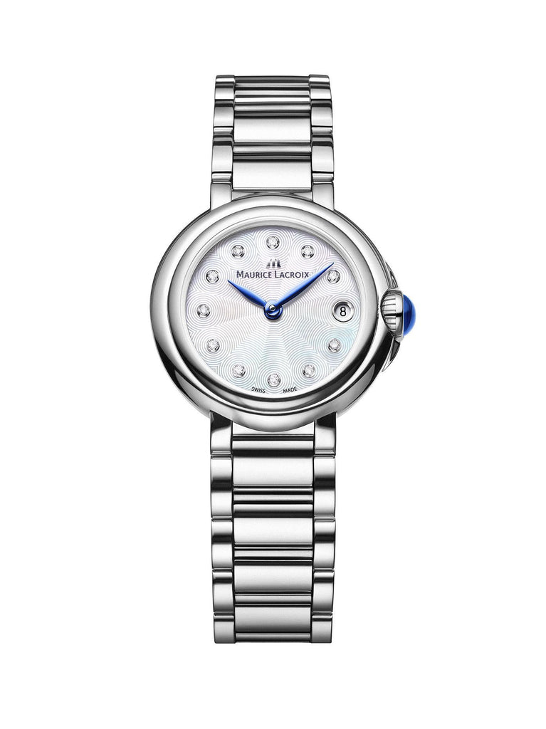Maurice Lacroix FIABA Date 28mm Silver Strap Women's Watch FA1003-SS002-170-1