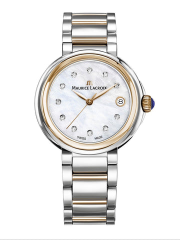 Maurice Lacroix FIABA Date 36mm Two-Tone Strap Women's Watch FA1007-PVP13-170-1