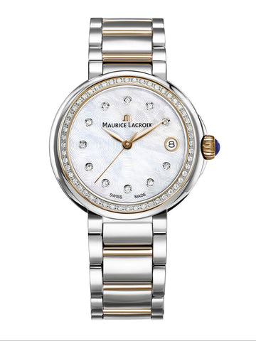 Maurice Lacroix FIABA Date 36mm Two-Tone Strap Women's Watch FA1007-PVP23-170-1
