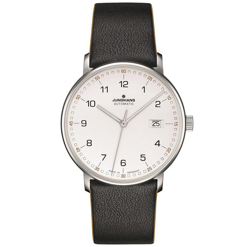 Junghans Form A 39.1mm Automatic Matte Silver Dial Men's Watch 027/4731.00
