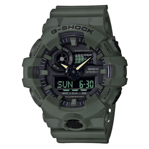 G-Shock Analog-Digital Olive Green Men's Watch GA700UC-3A