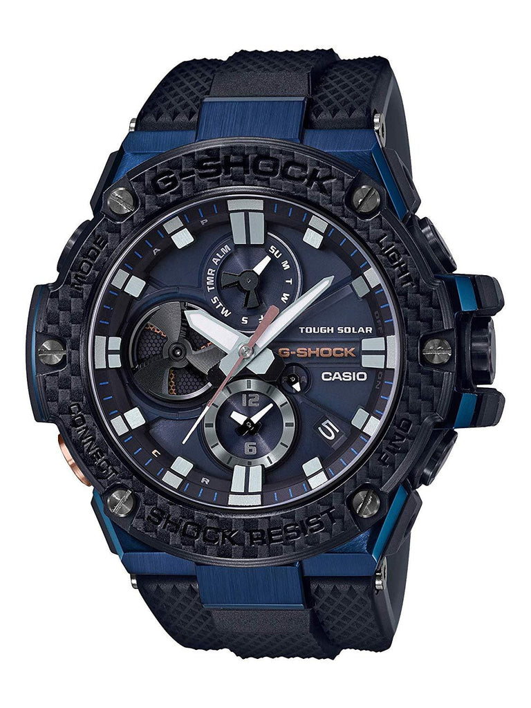 G-Shock G-STEEL Carbon Bezel Solar Powered Blue Men's Watch GSTB100XB-2A