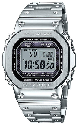 G-Shock Digital Silver All-Metal Solar Men's Watch GMWB5000D-1