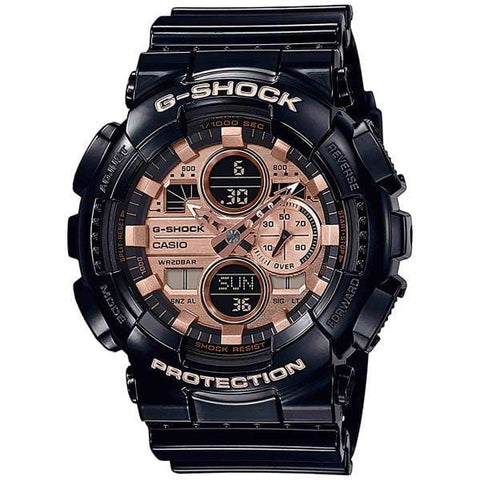 G-Shock Analog-Digital Rose Gold Dial Black Rubber Strap Men's Watch GA140GB-1A2