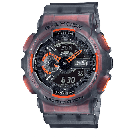 G-Shock Analog-Digital Translucent Purple-Orange Men's Watch GA110LS-1A