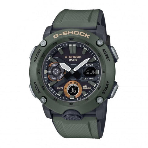 G-Shock Analog-Digital Carbon-Resin Case Military Green Men's Watch GA2000-3A