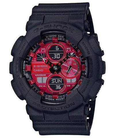 G-Shock Analog-Digital Red Dial Black Men's Watch GA140AR-1A