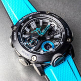 G-Shock Analog-Digital Carbon-Resin Case Turquoise Men's Watch GA2000-1A2