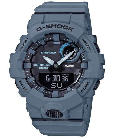 G-Shock Analog-Digital Step Tracker & Smartphone Link Unisex Blue Watch GBA800UC-2A