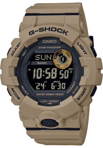 G-Shock Digital G-Squad Connected Step Tracker Brown Unisex Watch GBD800UC-5