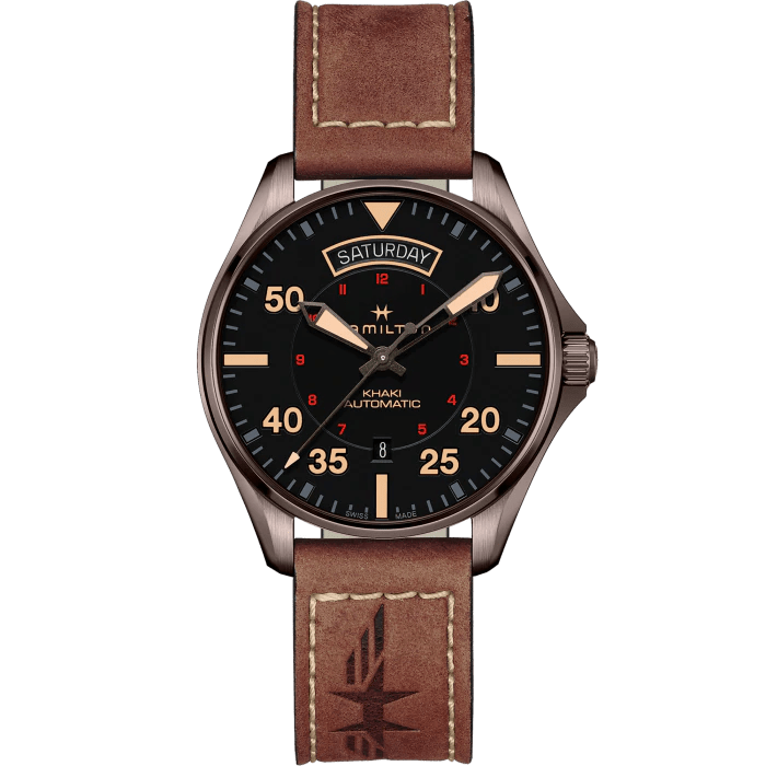 Hamilton Khaki Aviation Day Date Auto 42mm Men's Watch H64605531